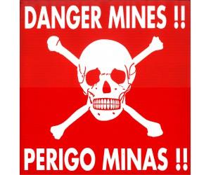 """Panneaux """"Danger Mines"""""""