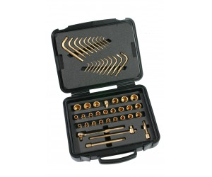 Non magnetic tool kit 36 pieces